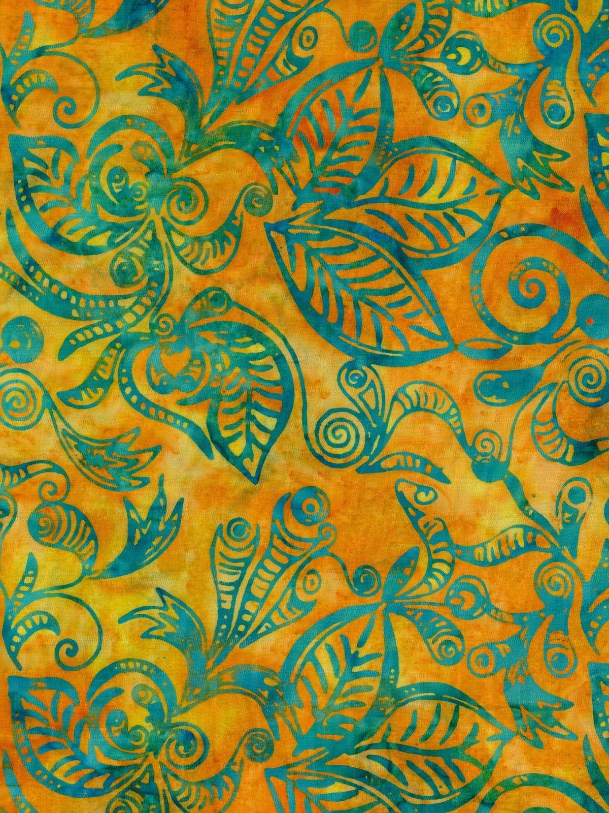 Boardwalk Batik Yellow w/Teal