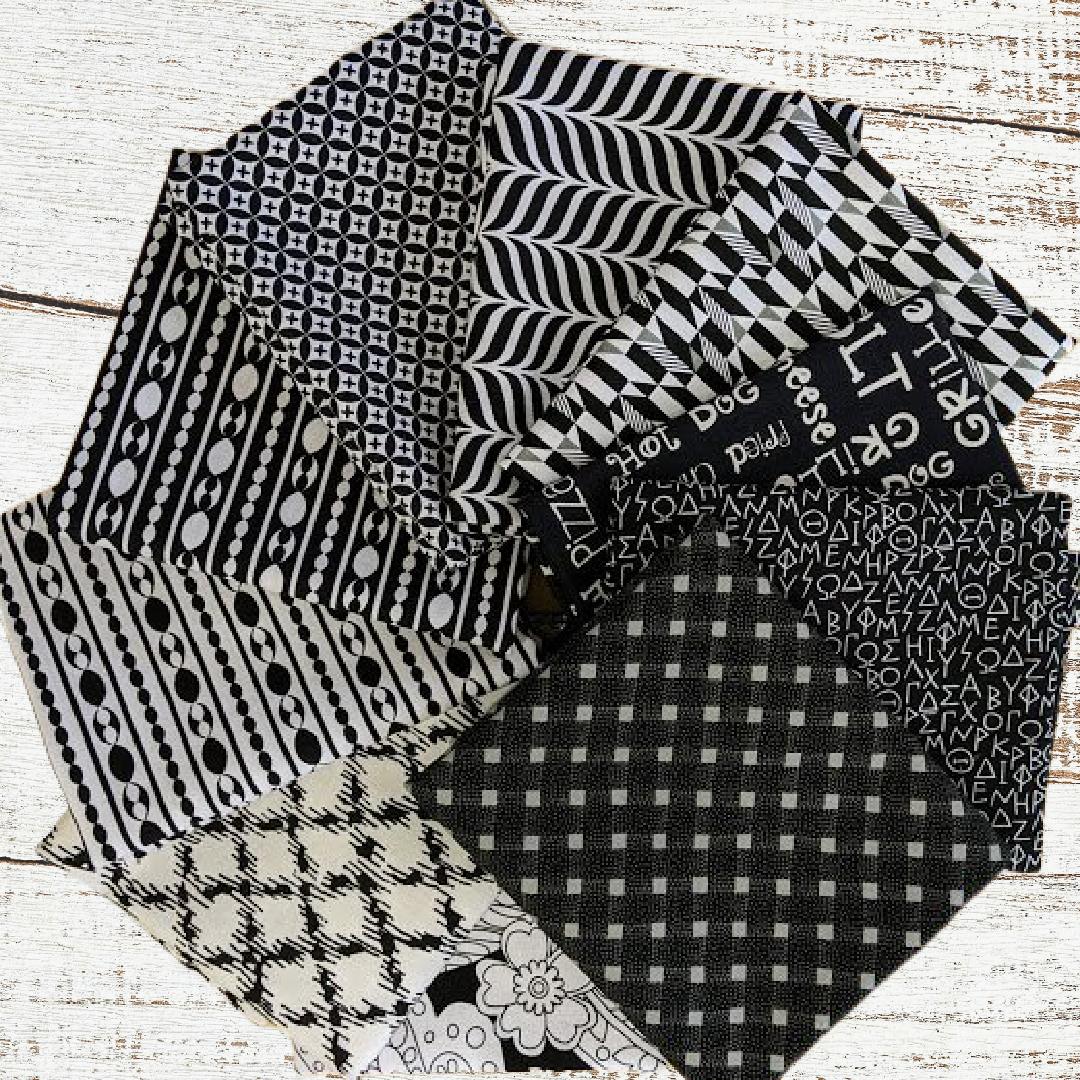Colorway FQ Bundle Black & White (10 pcs)