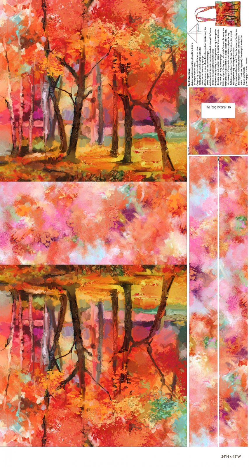 September Morning Canvas Bag Panel (24x43) #147