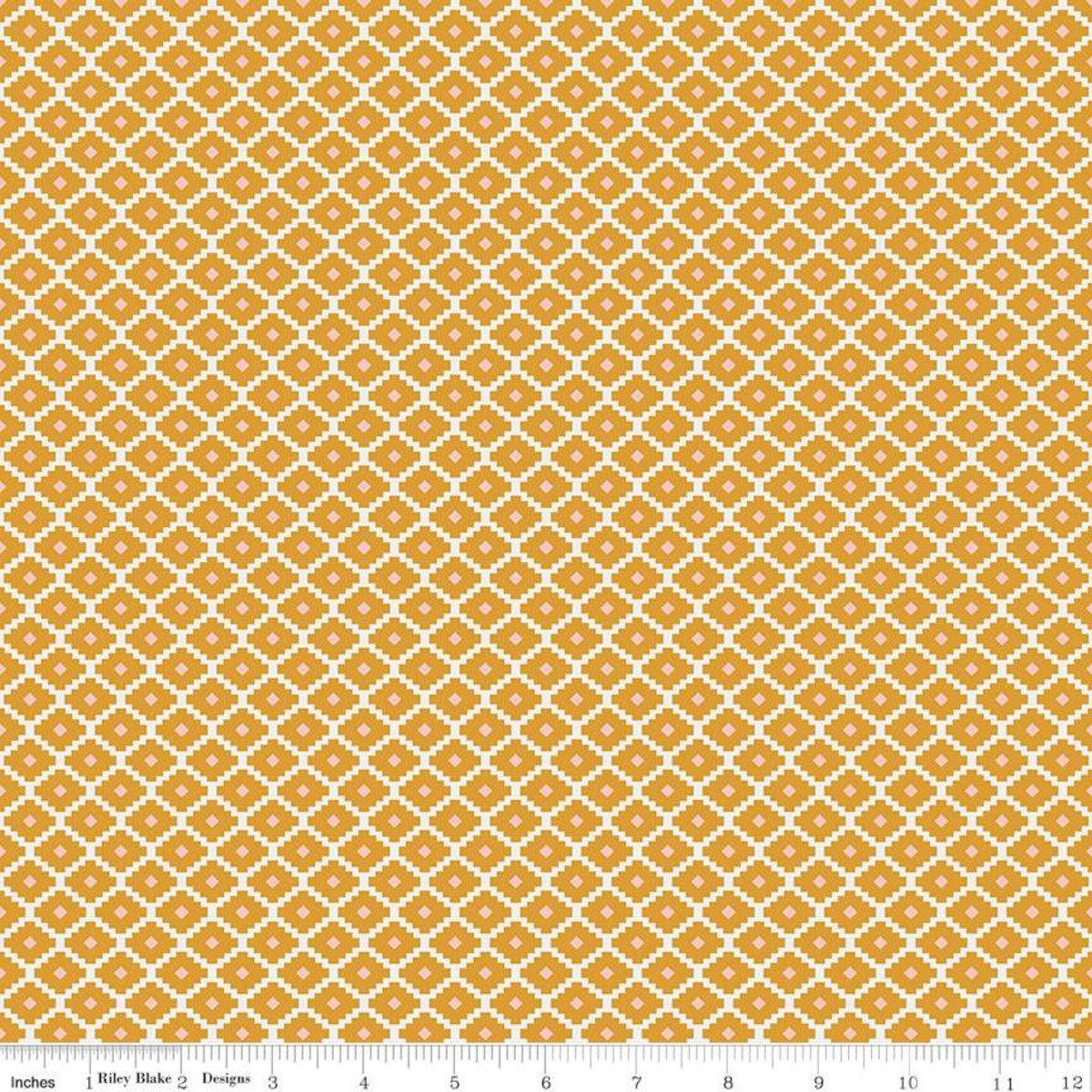Golden Aster Geometric Mustard