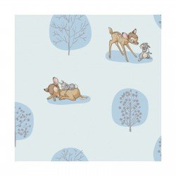 Bambi - Forest Scene - Blue