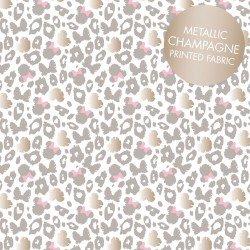 Minnie Leopard Print Metallic Grey