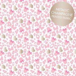 Minnie Leopard Print Metallic Pink
