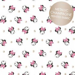 Minnie Mouse Face Dot Metallic White