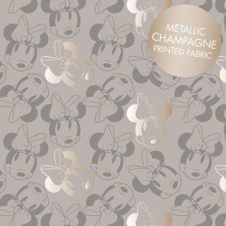 Minnie Mouse Face Outline Metallic Grey