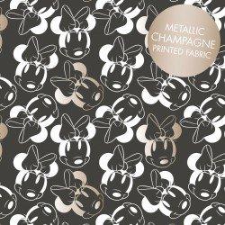 Minnie Mouse Face Outline Metallic Carbon