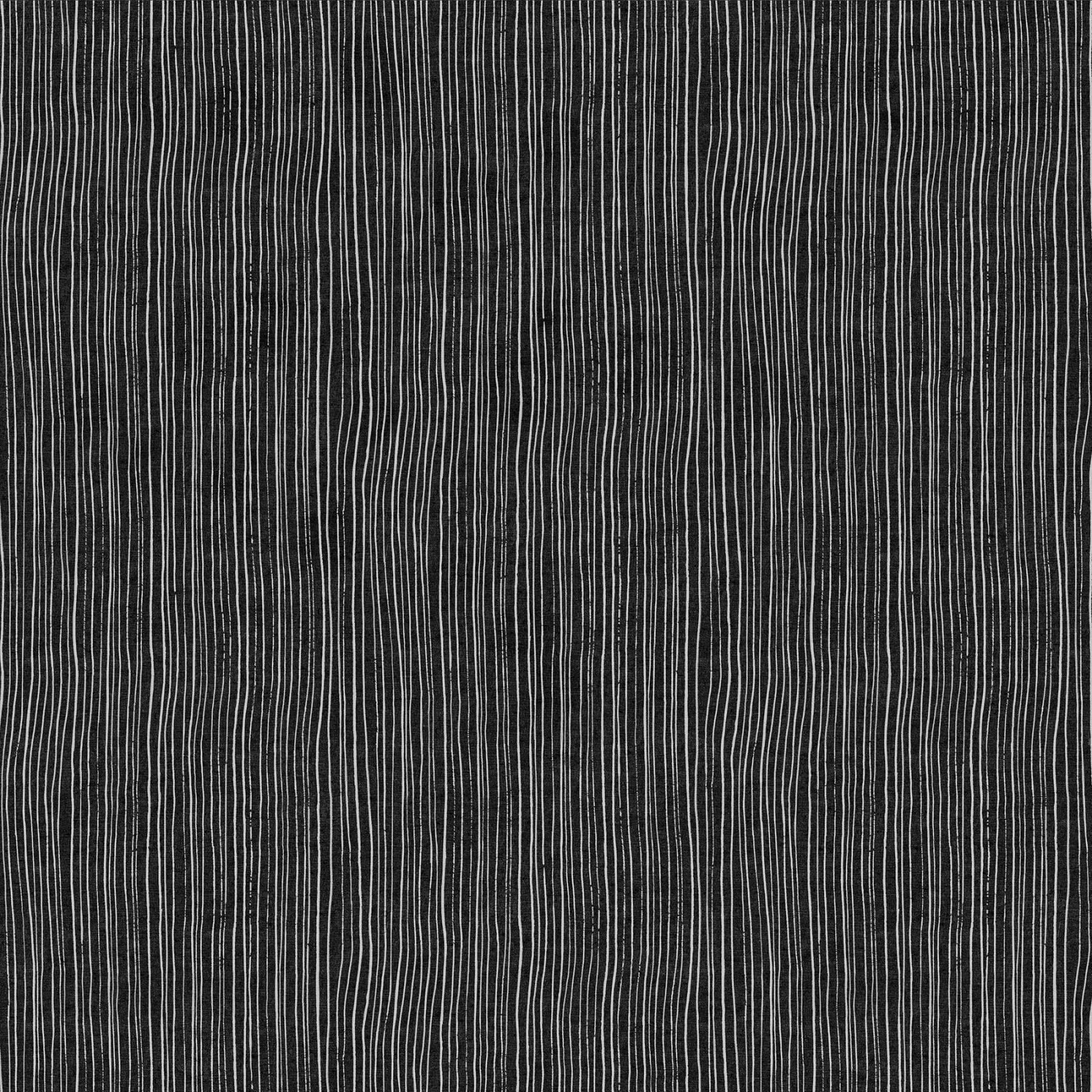 Harmony Strips Black (55% linen/45% cotton)
