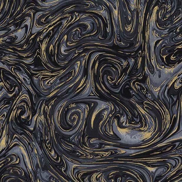 Marble with metallic Black