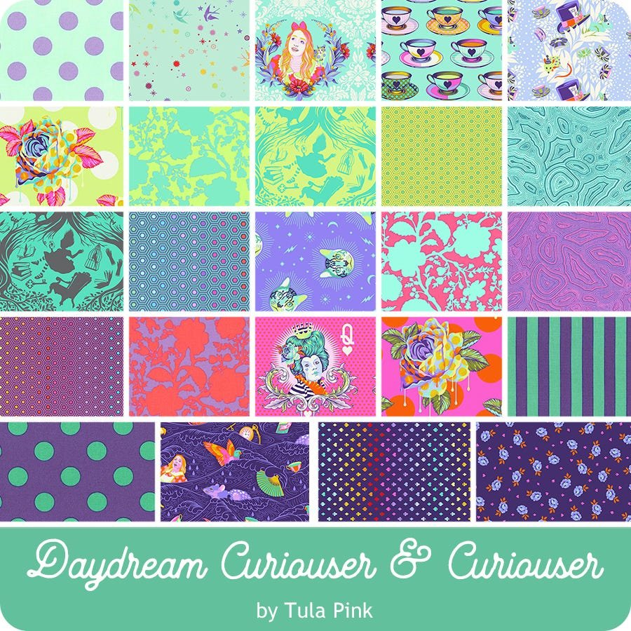PRE-ORDER: Tula Pink Daydream Curiouser & Curiouser  FQ Bundle (24 pc)