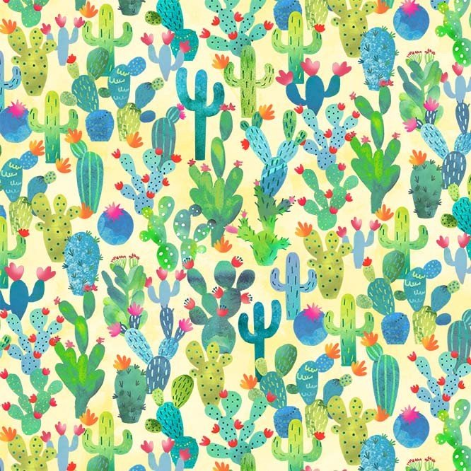La Vida Loca Cactus Garden Yellow