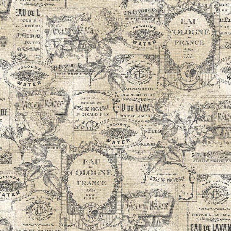 Fragrant Roses Perfume Labels Beige