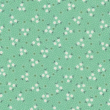 Darlene's Favorites Ditsy Flower Dots Aloe