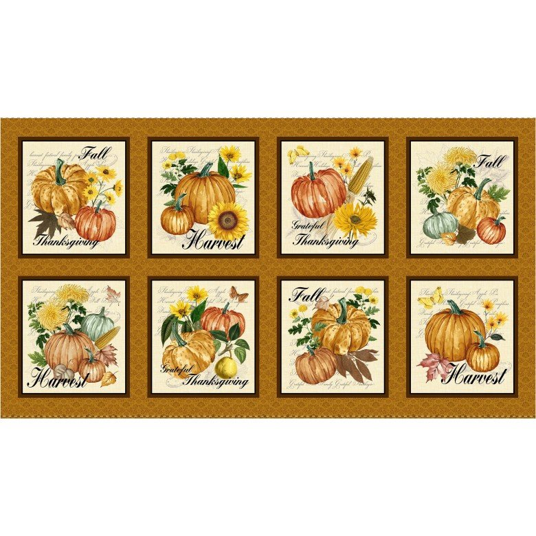 Grateful Harvest Gratitude Panel (25x44:) #163
