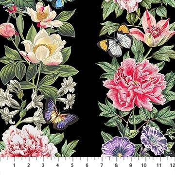 Botanica Border Print Black