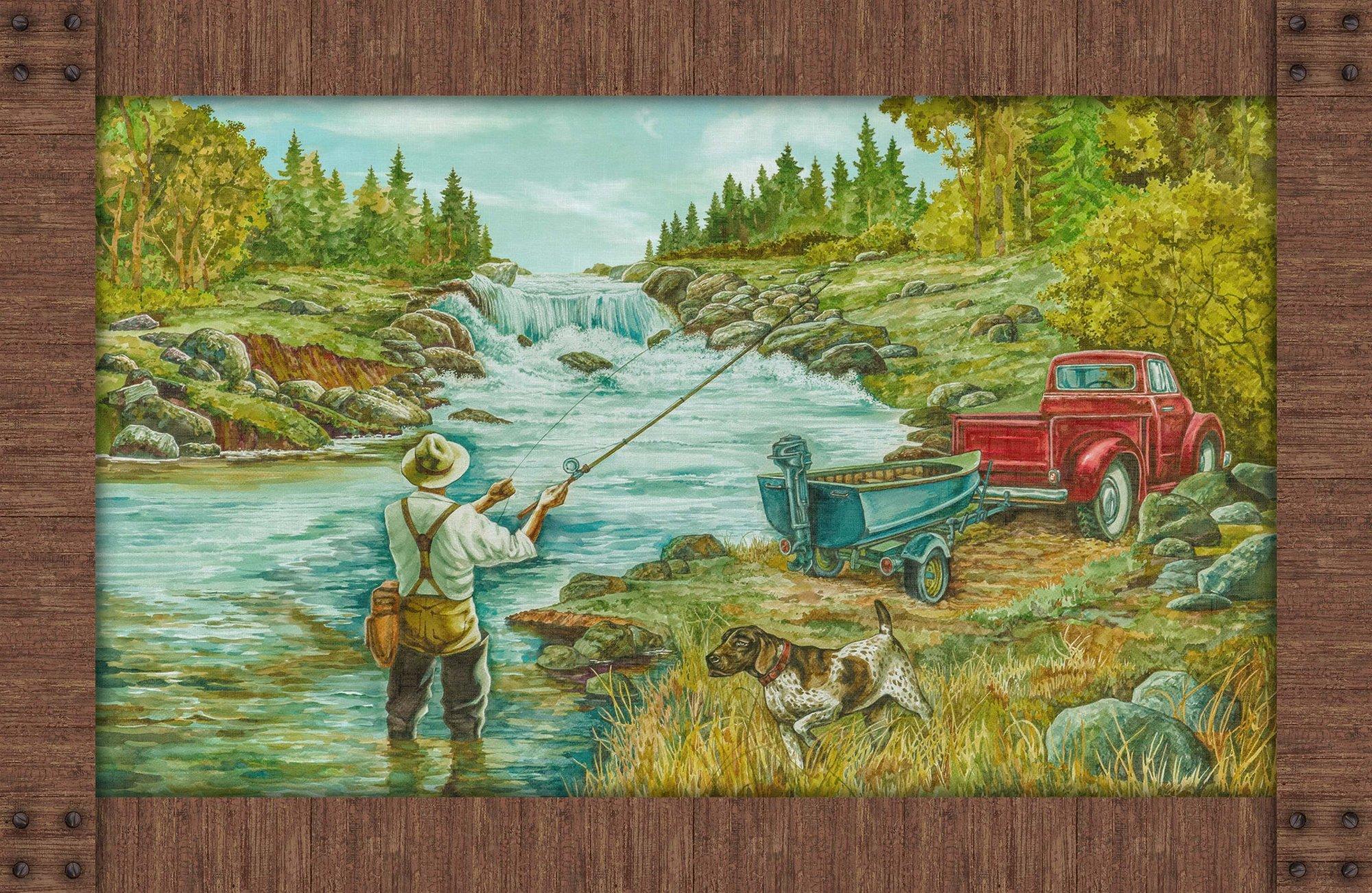 Rod and Reel Panel (Digital) ~28x43  #19