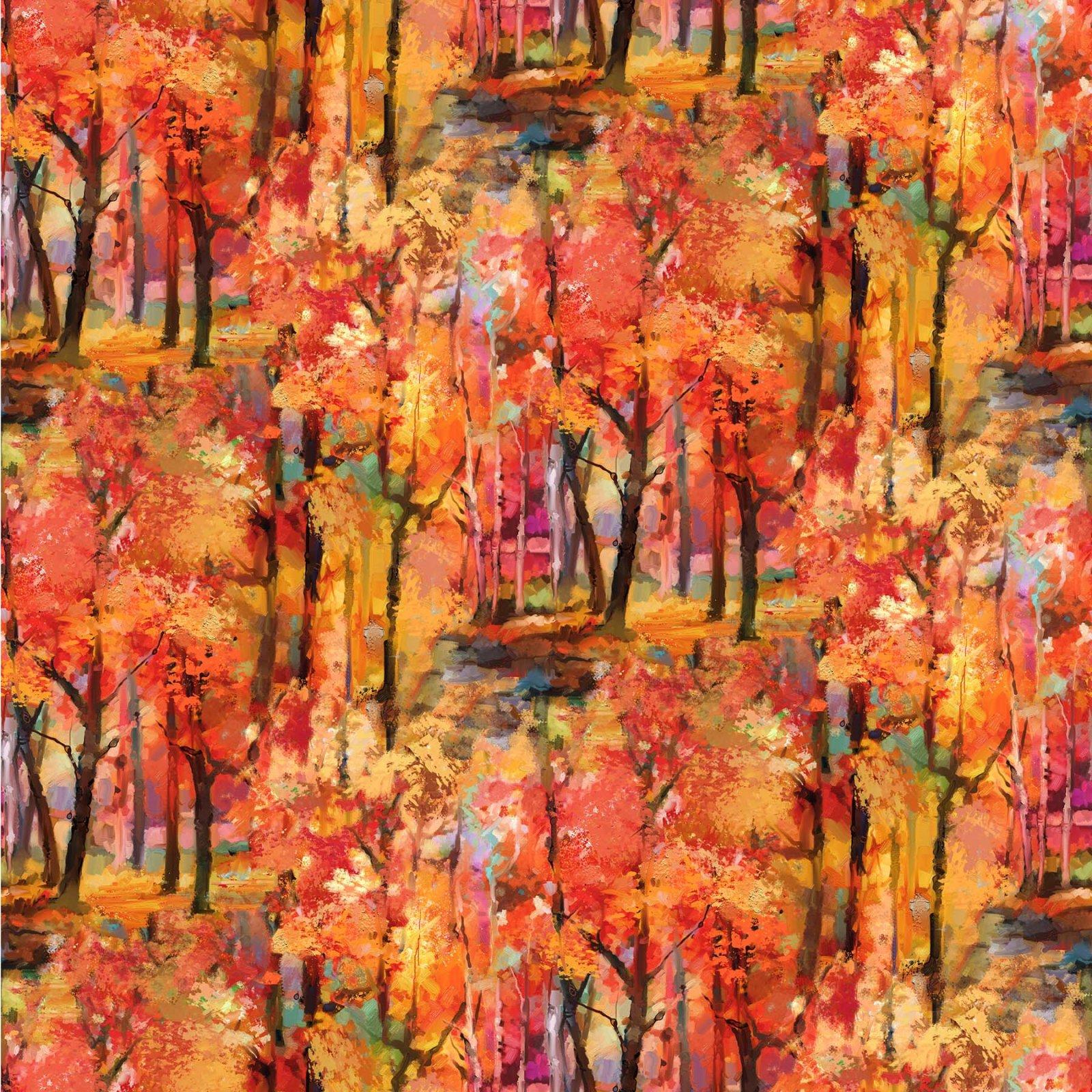 September Morning Allover Trees