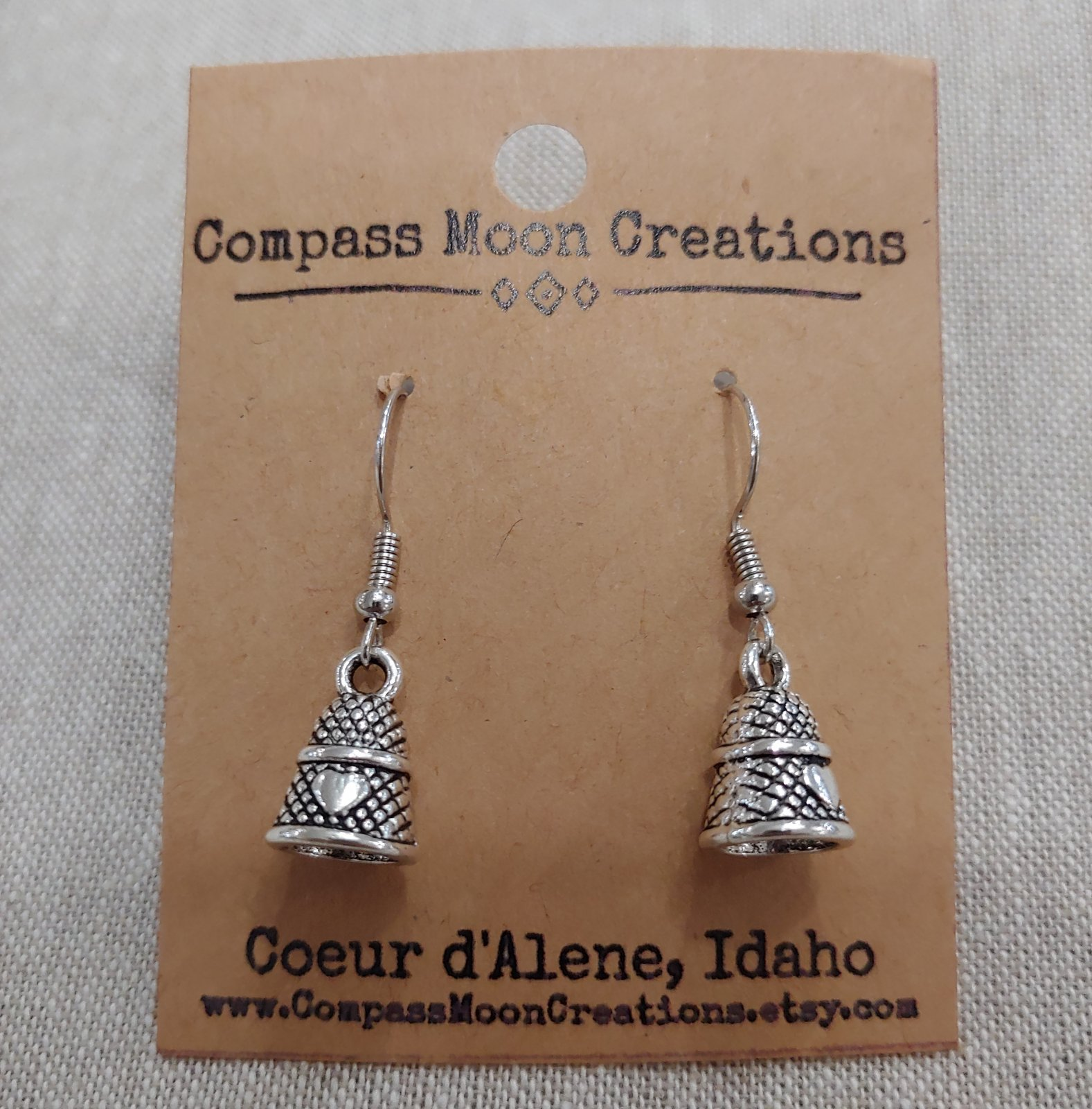 Earrings - Thimble