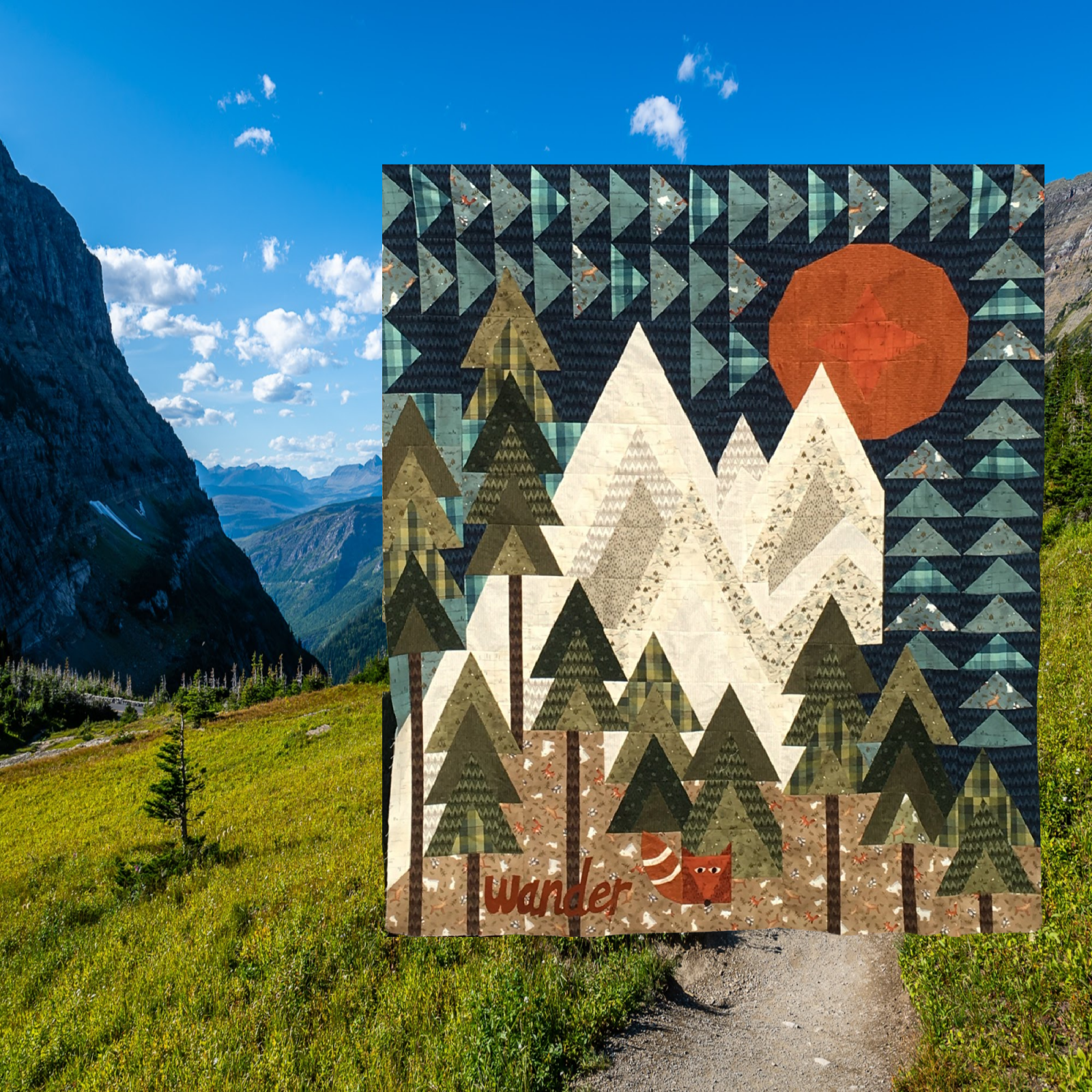 The Mountains are Calling Flannel Quilt Kit (51X60)