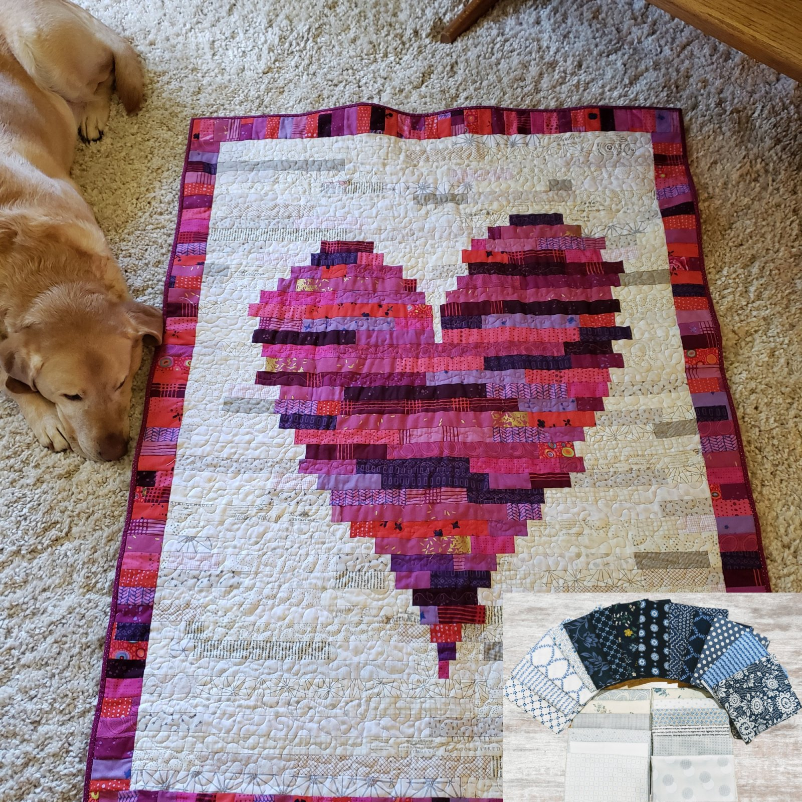 Have a Heart Kit Blue (74X90)