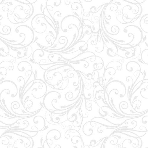 Winter Frost Swirl White Flannel
