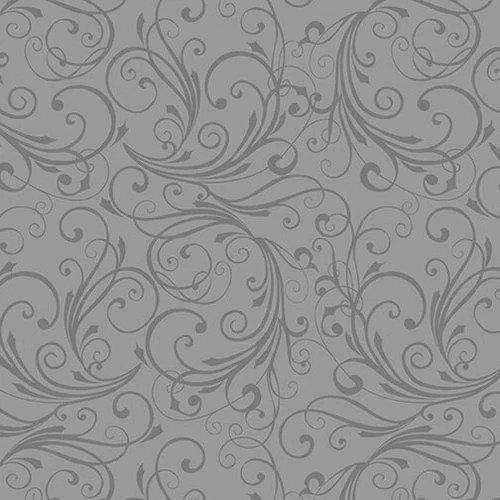 Winter Frost Swirl Gray Flannel