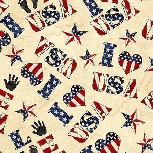 American Honor Words & Stars Ivory - COMING SOON