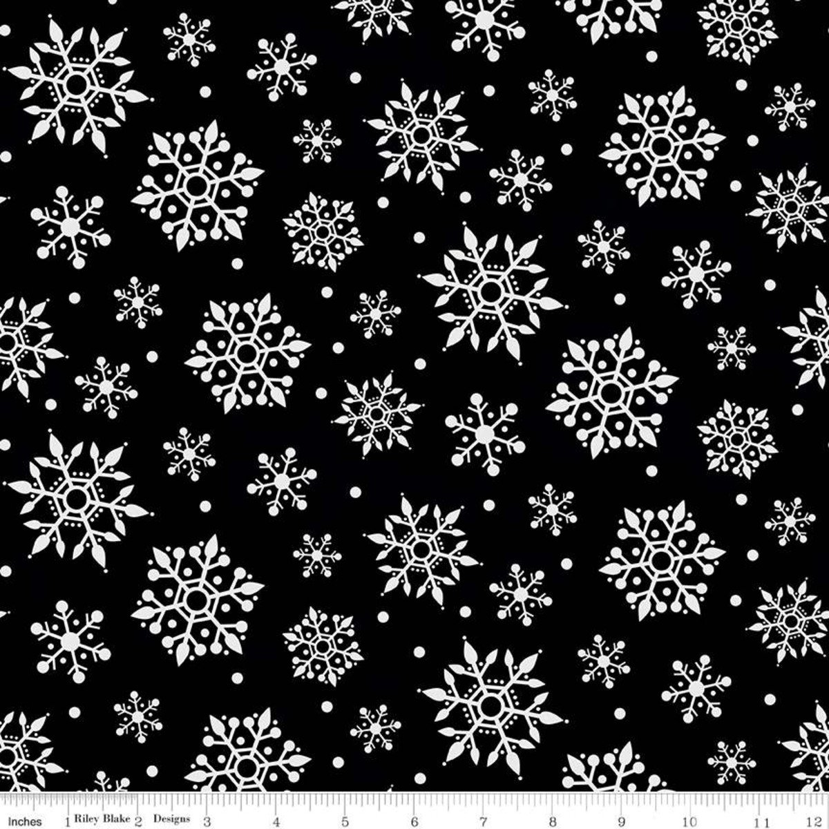 Gnome for Christmas Flannel Snowflakes Black