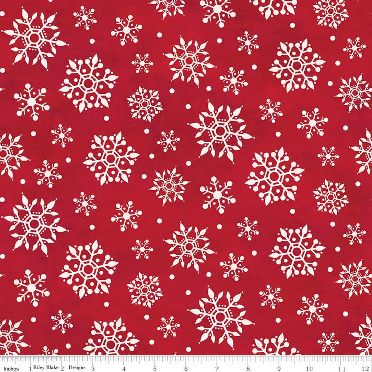 Gnome for Christmas Flannel Snowflakes Red