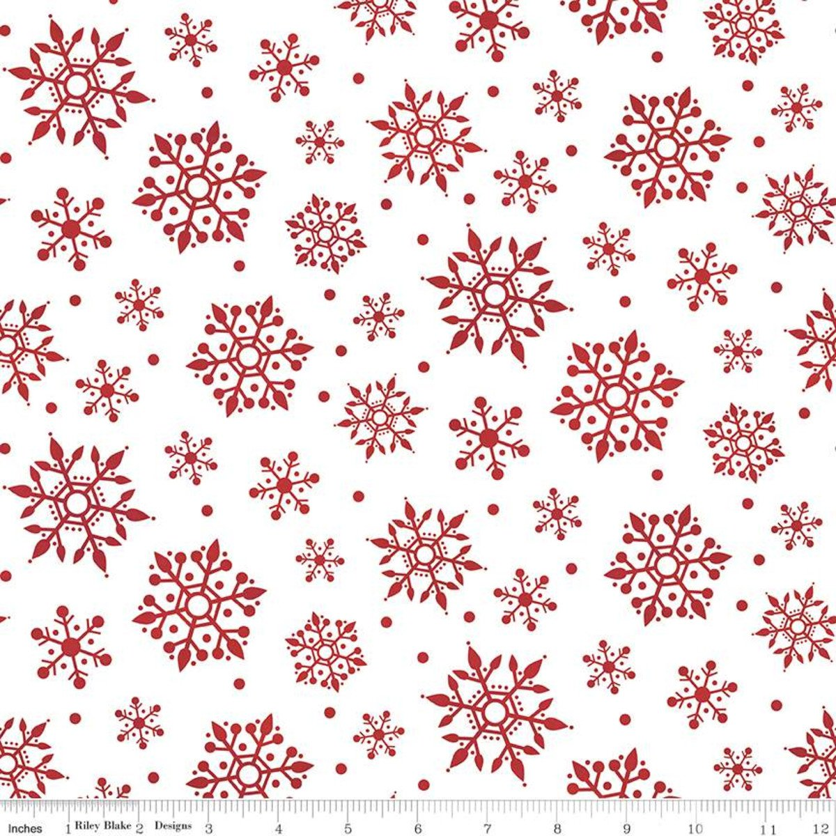 Gnome for Christmas Flannel Snowflakes White