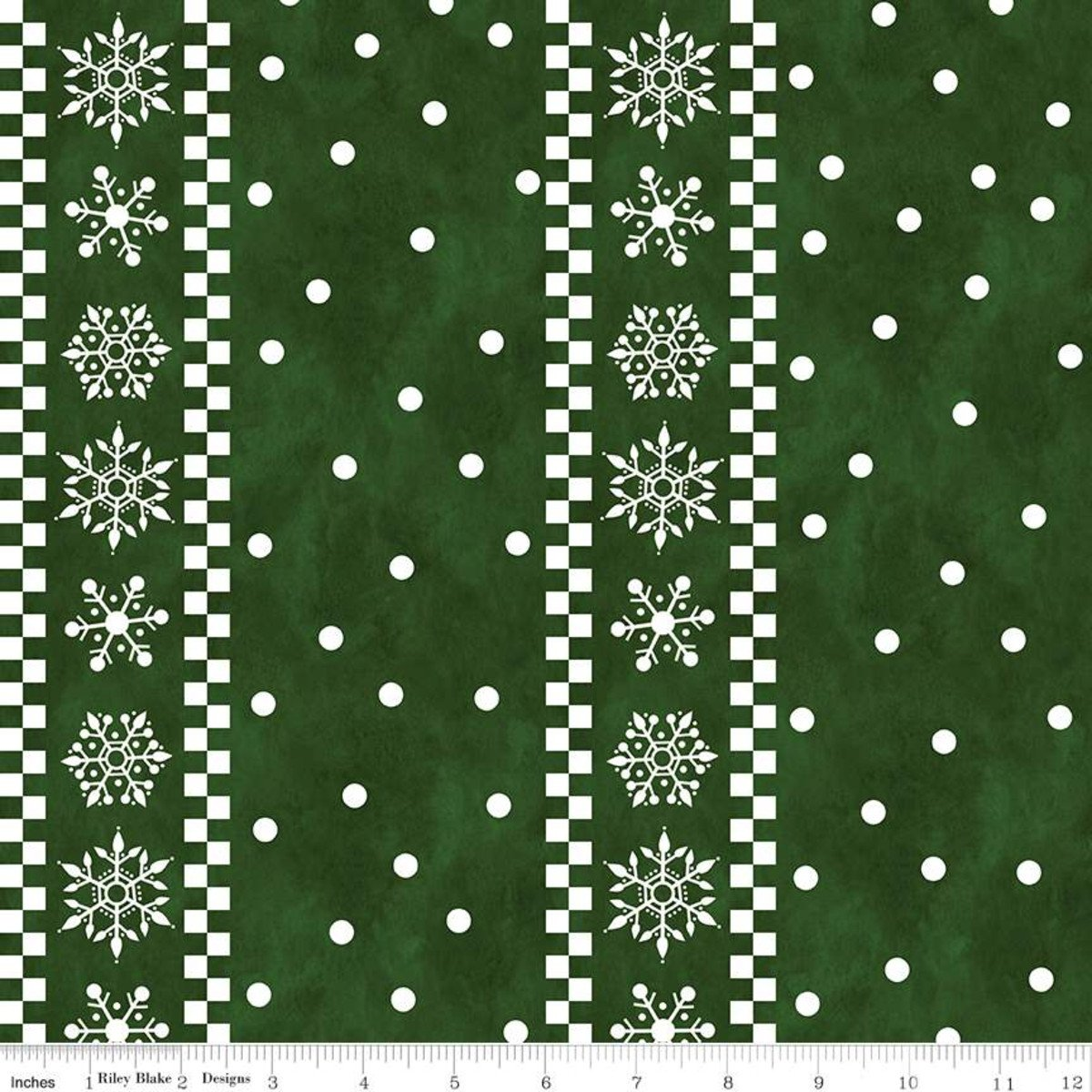 Gnome for Christmas Flannel Stripes Green