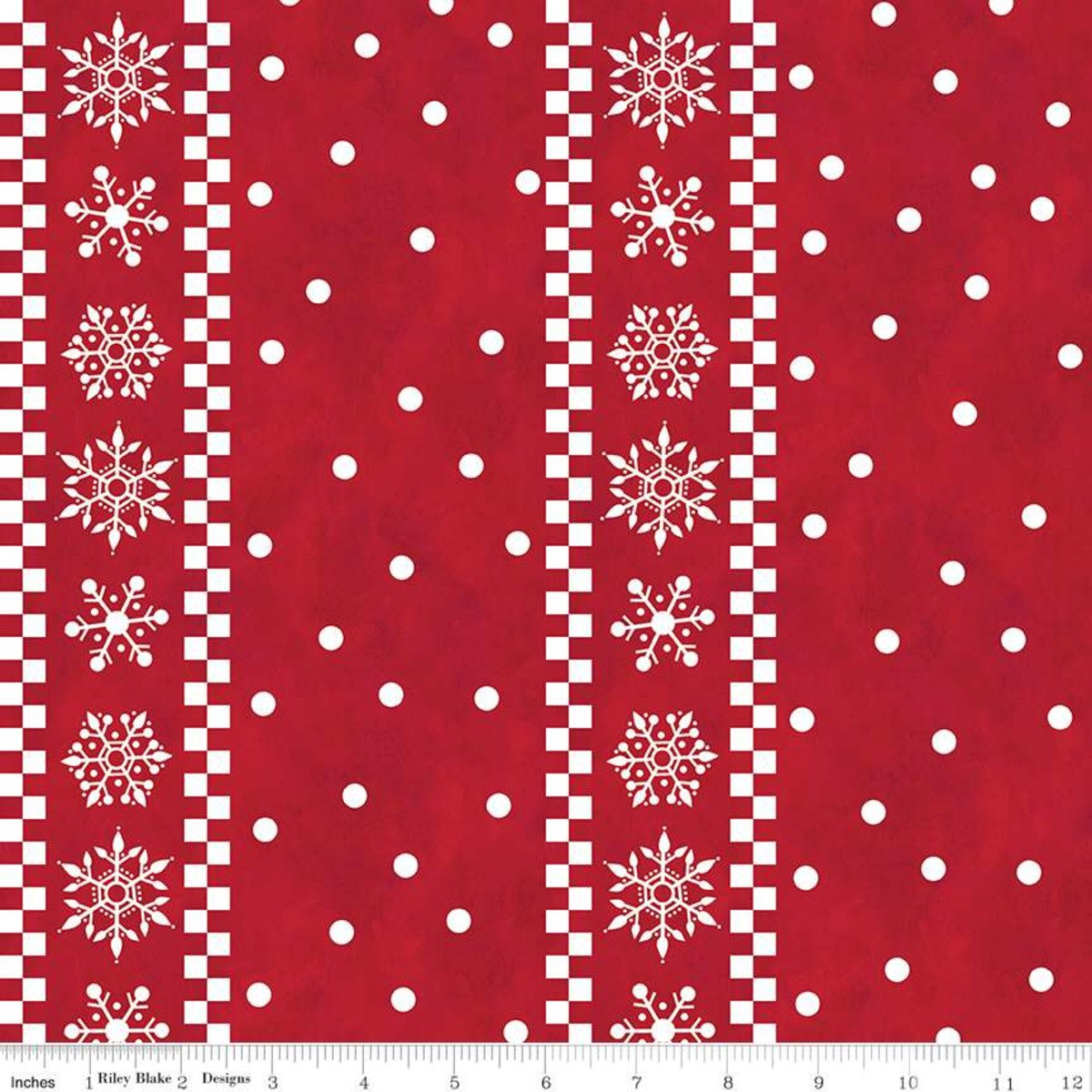 Gnome for Christmas Flannel Stripes Red