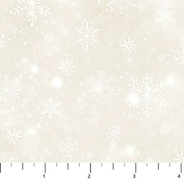 Frosted Woodland Flannel Snowflake Texture