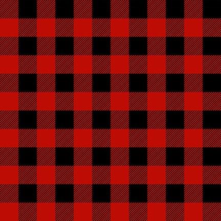 Flannel Gnomies Buffalo Check Red/Black