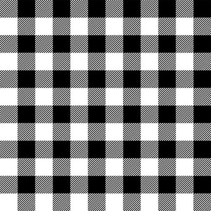 Flannel Gnomies Buffalo Check Black/White