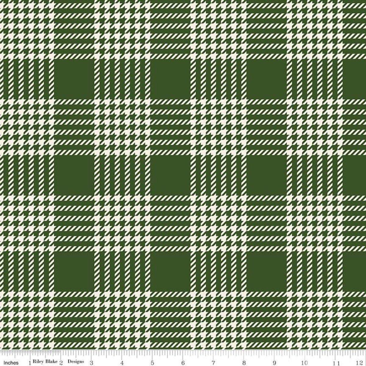 Flannel Yuletide Plaid Green
