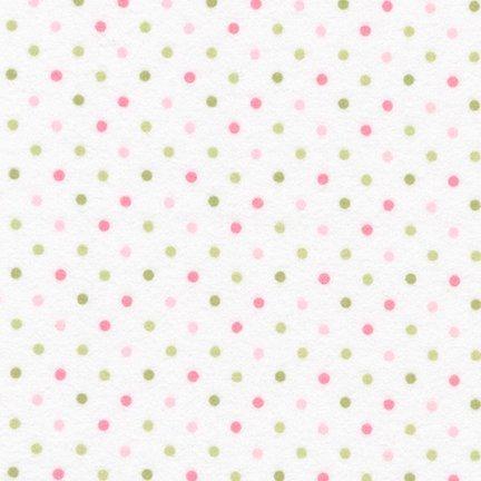 Cozy Cotton Flannel Dots Slipper