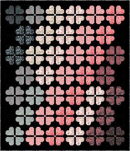 First Blush Batik Quilt Kit (77x89)