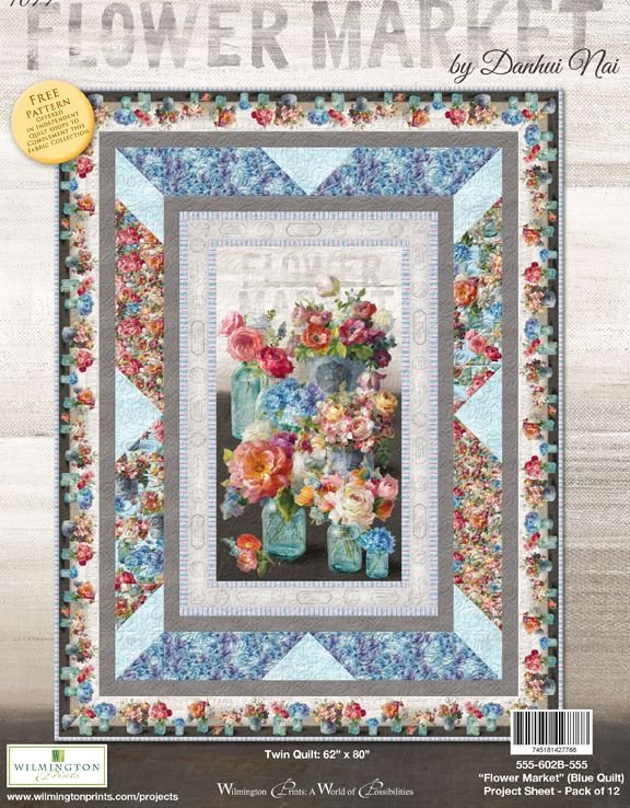 Flower Market Kit - BLUE (62 x 80)