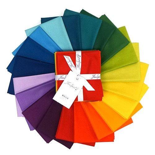 Designer Essentials Solids Rainbow FQ bundle (20 pcs)