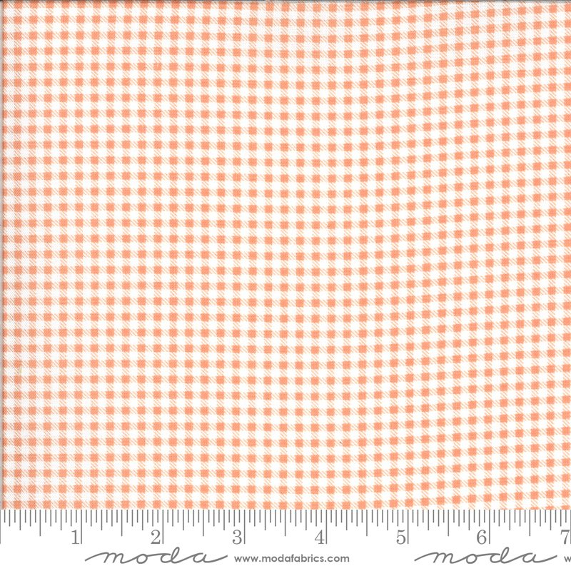 Apricot Ash Gingham Coral