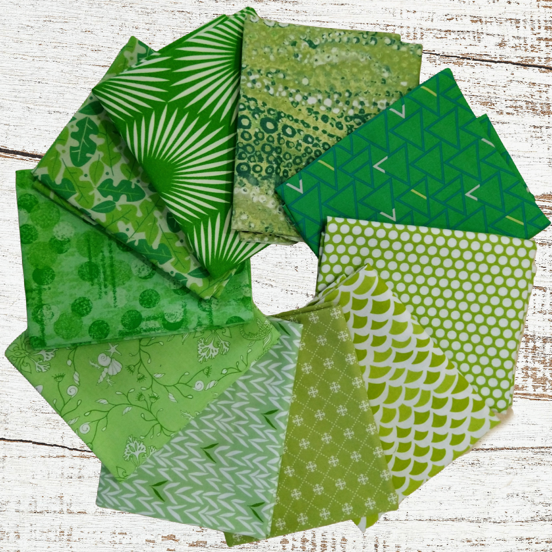 Colorway FQ bundle (10 pcs) - Green with Envy