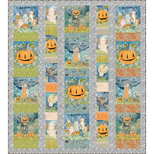 Halloween Menagerie Quilt w/Spirit of Halloween (55.5x62)