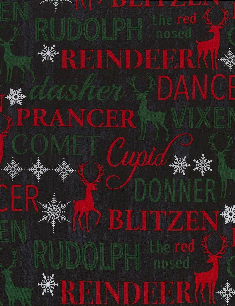 Christmas Cabin - Reindeer Names