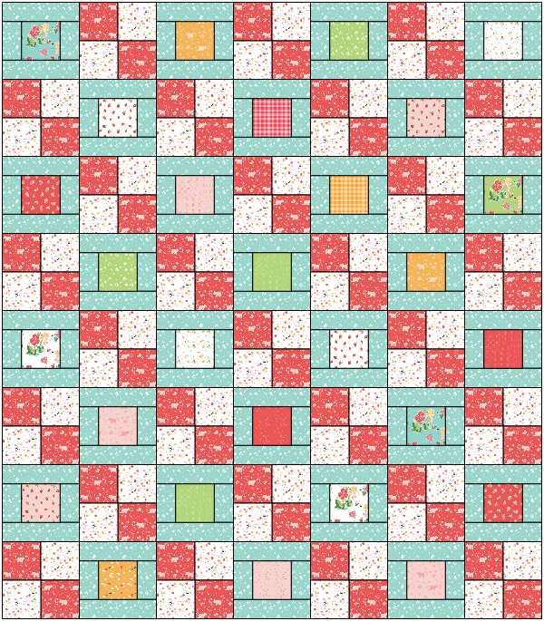 Hopscotch Strawberry Honey Kit (63x72)