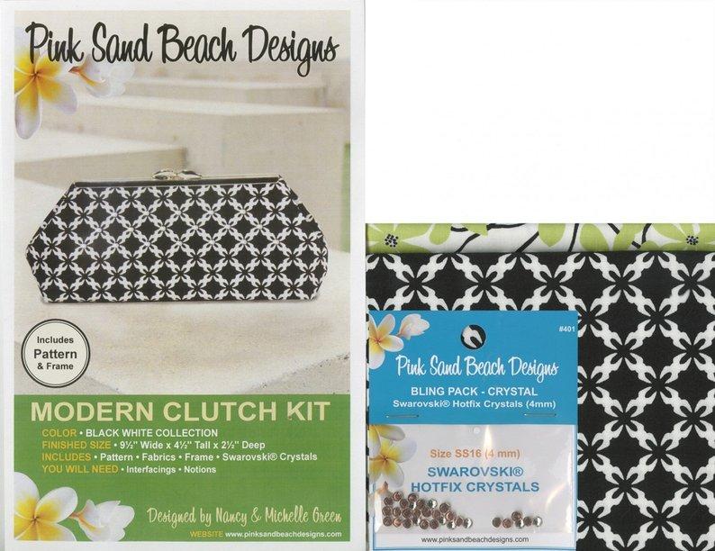 Modern Clutch  Black & White