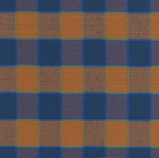 Artisan - Checkerboard Plaid Ikat -Blue