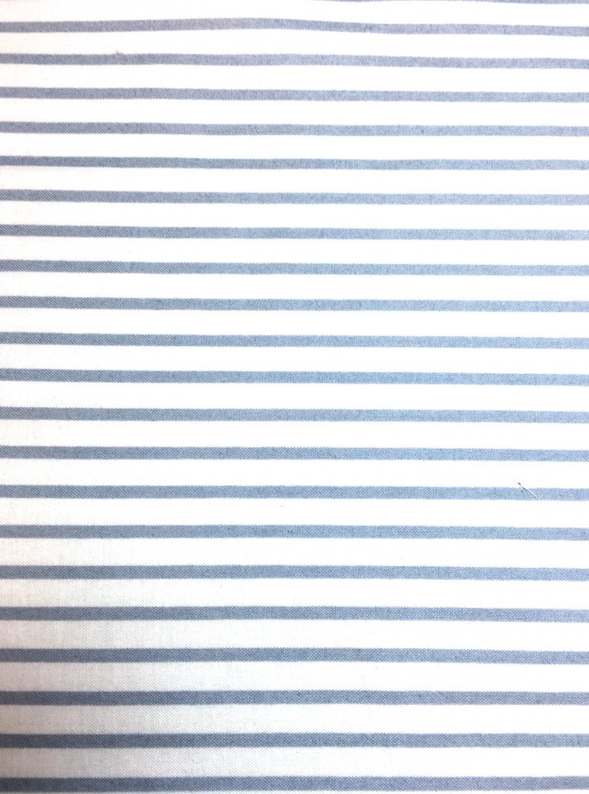 2016 Shop Hop - Gray & White Stripe