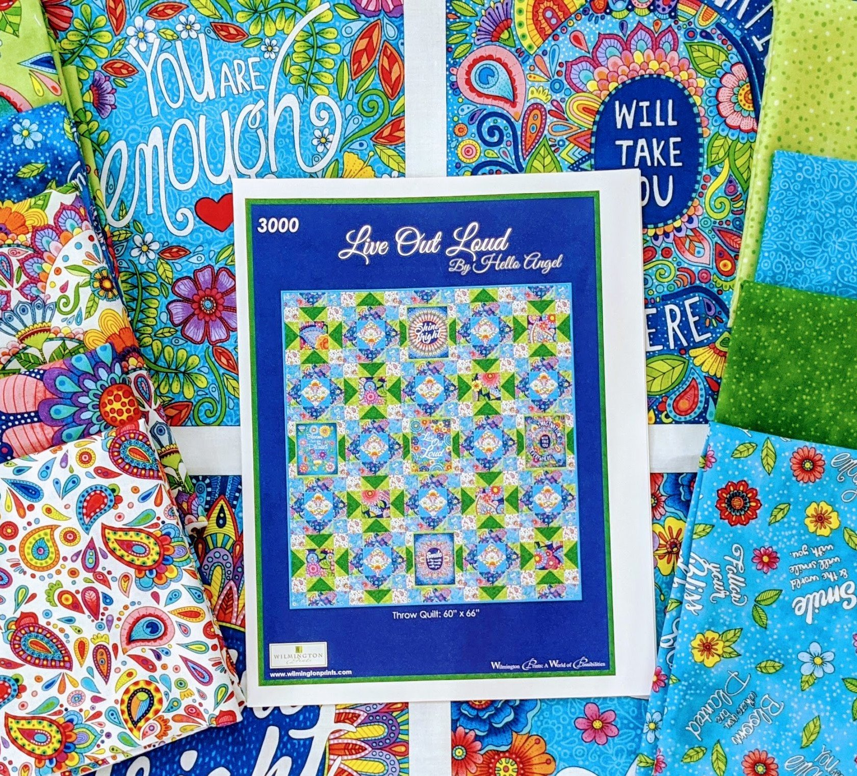 Live Out Loud Kit Green Throw (60x66)