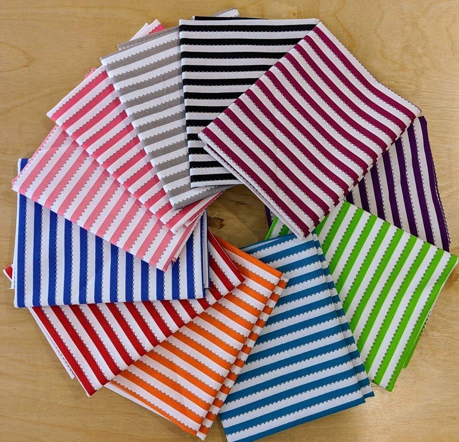 Becolourful Stripe FQ Bundle #1 (11 pcs)
