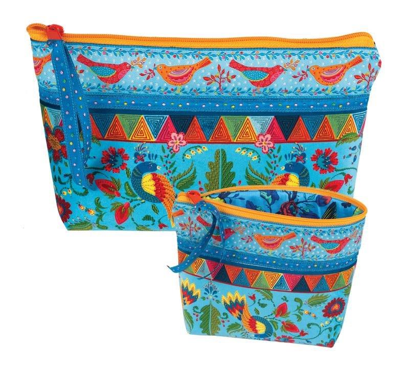 Renaissance Ribbons Bag Kit - Fairy Tale Birds on Blue (makes 2)